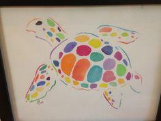 Watercolor turtle painting on Etsy: www.etsy.com/shop/ArtByAndreaStocker