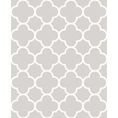 56 sq. ft. Origin Grey Quatrefoil Wallpaper