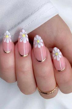 Cute Spring Nails, Spring Nail Art, Summer Nails, Cute Nails, Luxury Nails, Pretty Nail Art, Flower Nails, Stylish Nails, Perfect Nails