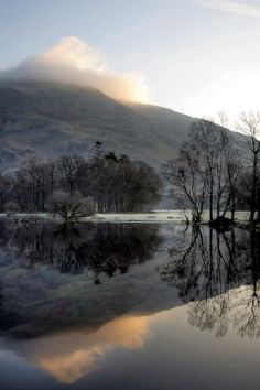 Ullswater, Cumbria  The mists over the hills. Where are the dragons hiding?