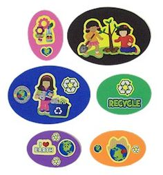 Daisy Recycling Packette. Have the recycling magnets around your house. Use these to try to remember to use resources wisely. Just the craft you need to complete the Daisy Girl Scout Green Petal. Economical and age appropriate for the supplies and more ideas go to Makingfriends.com