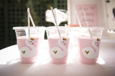 Gorgeous little girls Swan party by Work of Heart