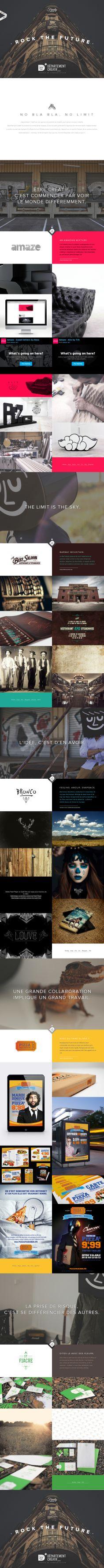 http://departementcreatif.com/ #agence #portfolio #scroll #portfolio