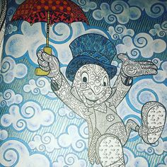 #Disney #disneyadultcoloringbook #disneyart #disneyfan #disneycoloringbook #jiminycricket #pinochio #pinocho  #pepitogrillo #disney #coñoringbook #adultcoloringbook #arttherapy #arttherapie