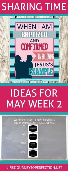 LDS SHARING TIME IDEAS FOR WEEK 2 IN MAY TOPIC WHEN I AM BAPTIZED AND CONFIRMED I AM FOLLOWING JESUS'S EXAMPLE. PRINTABLES, IDEAS AND ACTIVITIES TO TEACH YOUR PRIMARY