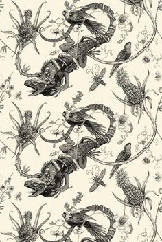 Timorous Beasties Wallcoverings - Iguana Superwide