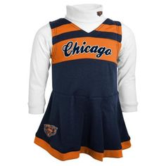 Baby Chicago Bears Cheerleader Jumper Set $24.00