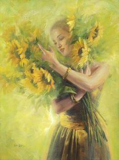 Sunflower art!!!!  --hepsylone.tumblr.com--  *beautiful*
