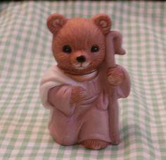 Teddy Bear Joseph Christmas Nativity Figure Vintage Homco
