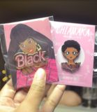 Chiamaka loves two things: eating food and watching anime! This cute pin features a natural hair Black girl drawn in the iconic 90s anime style. size: 1.75 inches material: black nickel, hard enamel Pin will not look exactly like illustration, because it will be metal, but will be the same design