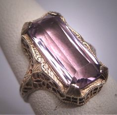 Antique Rose de France Amethyst Ring by AawsombleiJewelry on Etsy