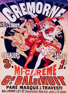 Cremorne, Mi-Carême (Bal de nuit). Jules Cheret