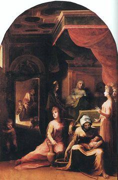 Un'opera di Domenico Beccafumi: Nascita della Vergine (Accademia, Siena)