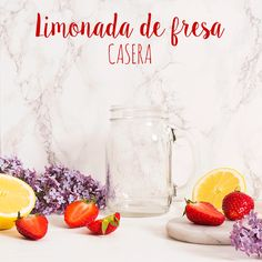 limonada de fresa casera refrescante