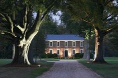 The tree lined driveway takes you back to days gone by and sets the stage for your event. Hewick Plantation, Urbanna, VA.