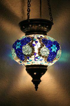 LARGE TURKISH MOROCCAN MOSAIC HANGING LAMP PENDANT LANTERN LIGHTING LAMPSHADE | eBay