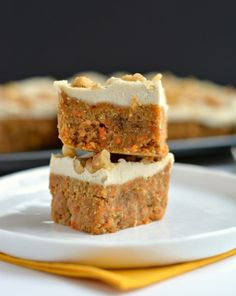 Vegan Raw Carrot Cake made with a carrot, date & walnut base, this delicious cake is topped with a silky icing that's surprisingly healthy.