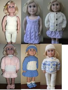 Ravelry: knits for american girl doll 2 pattern by Lynne Sears