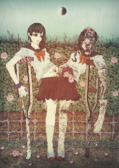 【ゾンビ注意】半月「【Zombie attention】Half Moon」(2013) by エザキ リカ「Rika Ezaki」