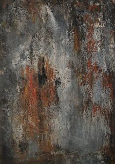 rust grey abstract painting by jolina anthony