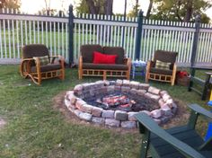Firepit on the bank of the Post-Dispatch Lake at the Boathouse in Forest Park.  The Boathouse is an amazing place for your rehearsal dinner!