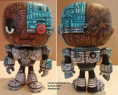 Funko Pop Cyborg Teen Titans custom vinyl toy by Howie Green Pop Custom, Custom Funko Pop, Custom Vinyl, Custom Art, Vinyl Toys, Vinyl Art, Pop Vinyl, Pop Figures, Vinyl Figures