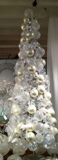 Pearl glass ornament #Christmas Tree