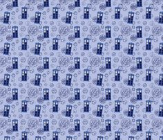 Madman in a Blue Box (half size) fabric by studiofibonacci on Spoonflower - custom fabric