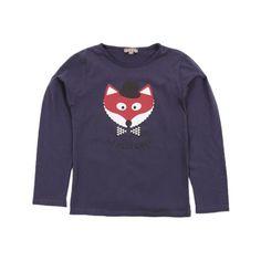 New in : emile et ida fox t-shirt - blue