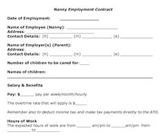 Nanny Contract  Rocket Lawyer Interview  NannyingChildcare