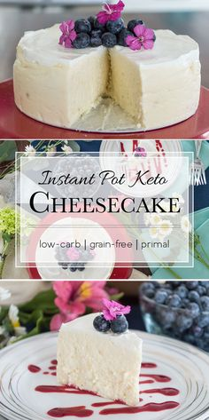 This low-carb cheesecake is loaded with 23.8g of fat and only 3g carbs. Now you can have your cake and eat it too. #keto #primal
