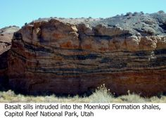 Multiple Geologic Sills | Physical Geology 101