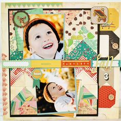 Fabulous fall layout created using Acorn Avenue by Crate Paper. #layouts #inspiration love . The tags tuvked on right