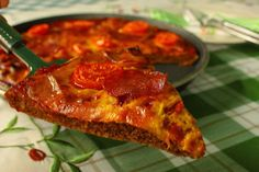BBQ szószos paleo pizza (kompromisszumos paleo)