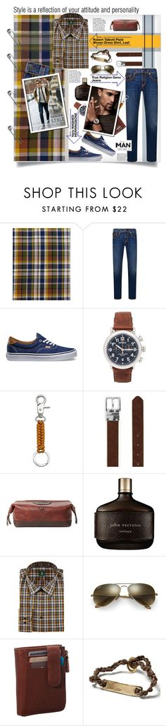 """Style is a Reflection of your attitude and personality by Sasoza"" by sasooza ❤ liked on Polyvore featuring Robert Talbott, True Religion, Vans, Shinola, FOSSIL, Topman, Will Leather Goods, John Varvatos, Ray-Ban and Banana Republic"