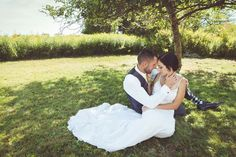 petite bride with groom