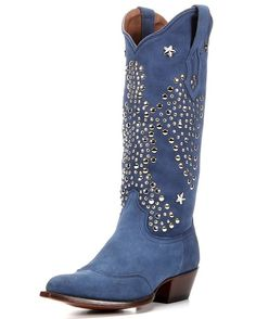 Let the glory of Elvis fly high with The King Boot from the Elvis Presley Blue Suede Collection!