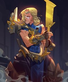 Sunday drawing! Golden sword. #drawing #digital #art #illustration #character #concept #fantasy #grecke