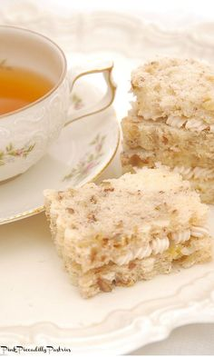 Banana Nut Bread Tea Sandwiches | Pink Piccadilly Pastries | Bloglovin'