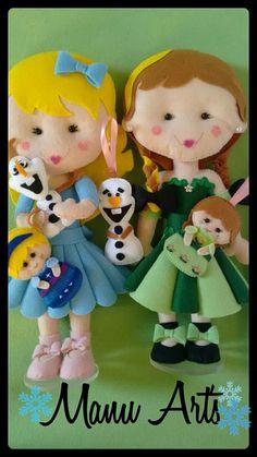 Enfeite de mesa Meninas Frozen e lembrancinhas Frozen pocket