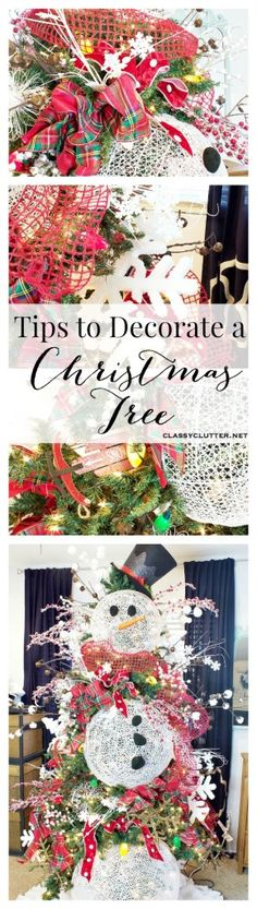 Pro tips for decorating a the perfect Christmas tree! Click for tutorial.