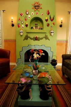 WOW that coffee table ......Im weird & I have a thing for luchadors but not sure I would do this