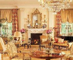 Rod Stewart's English Country-style estate - Rod Stewart's English Country-st. - Rod Stewart's English Country-style estate – Rod Stewart's English Country-style estate – - Home Fireplace, Celebrity Houses, Beverly Hills Houses, House Interior, Victorian Decor, Home, Beautiful Living Rooms, Country House Decor, English Country Style