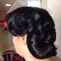 Las Vegas Wedding Retro hair by Amelia C & Co