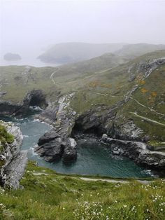 View from Tintagel Castle, Cornwall