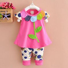Baby Girl Flower Petal Outfit