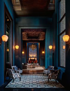 Ten New Exotic Retreats Around the World | Architectural Digest ...The color of the walls and the lanterns..!