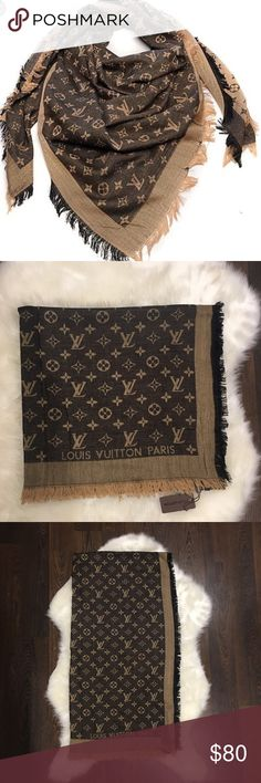 """LV brown scarf New with tags brown scarf.  Measurements 56""""x56"""". Classic color Louis Vuitton Accessories Scarves & Wraps"""