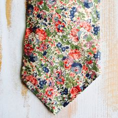 Red Floral LIBERTY of London Vintage Necktie on Etsy, $17.00