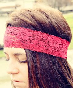 Items similar to Bohemian Stretch Lace Headband, Delicate and Beautiful, multiple colors available, Wide Hair Wrap, Womens Accessory on Etsy Easy Hairstyles For Long Hair, Hair Flip, Lace Headbands, Stretch Lace, Stretches, Women Accessories, Delicate, Bohemian, Crafty